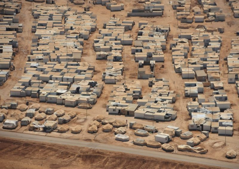 Лагерь для сирийских беженцев в Иордании