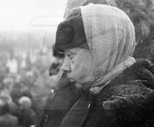 Крупская на похоронах Ленина