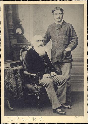 Редьярд Киплинг со своим отцом Джоно Локвудом Киплингом