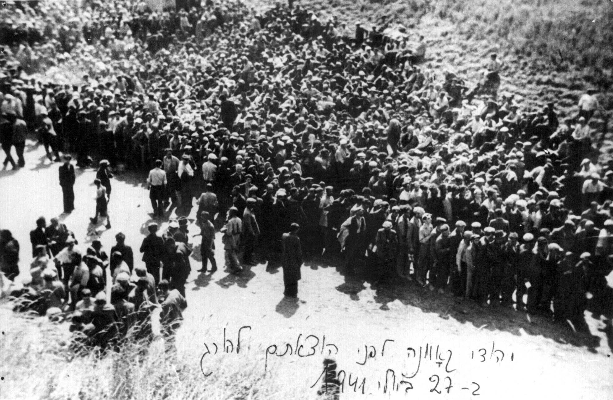 Перед расстрелом в IX форте, июнь 1941