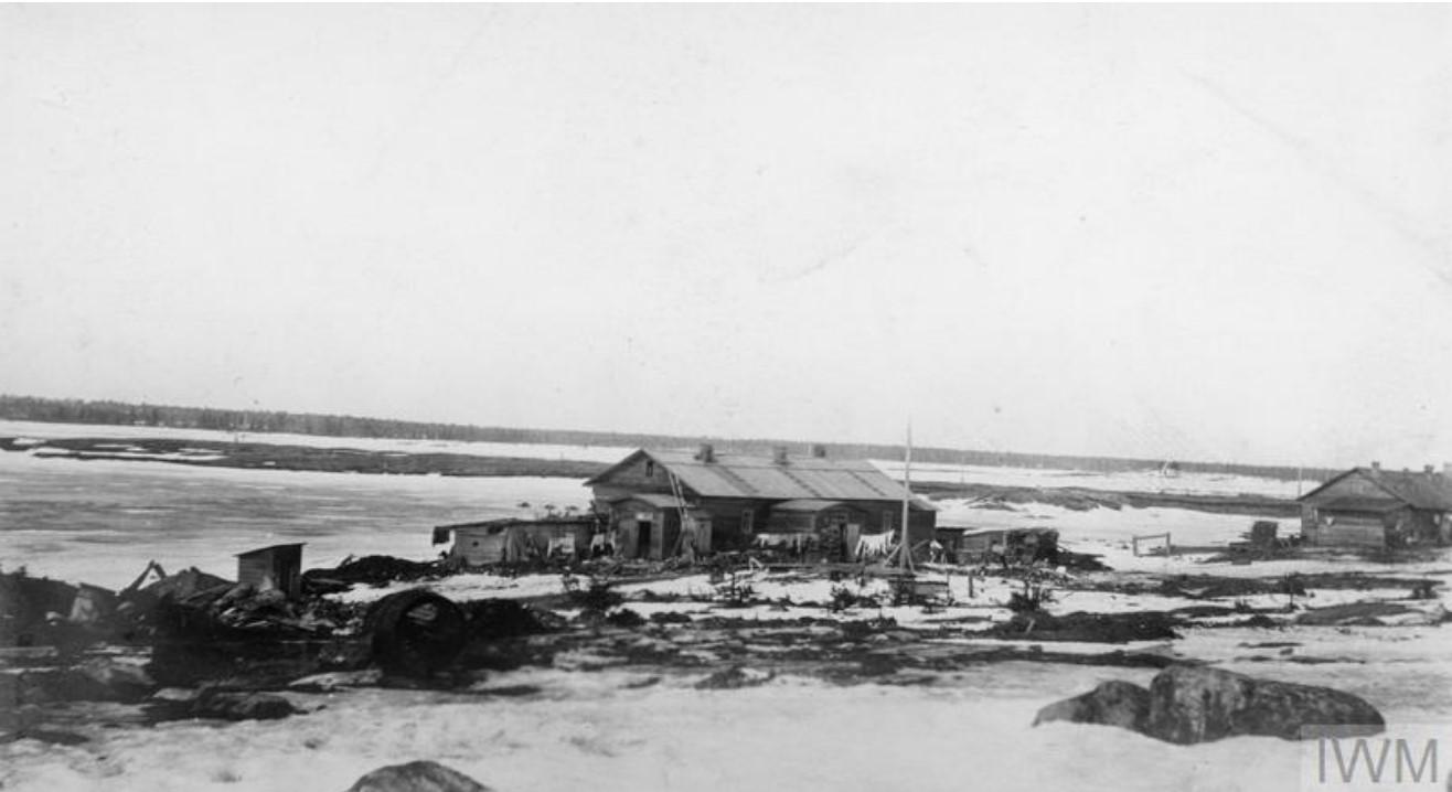 1919. Вид заснеженного Мурманска
