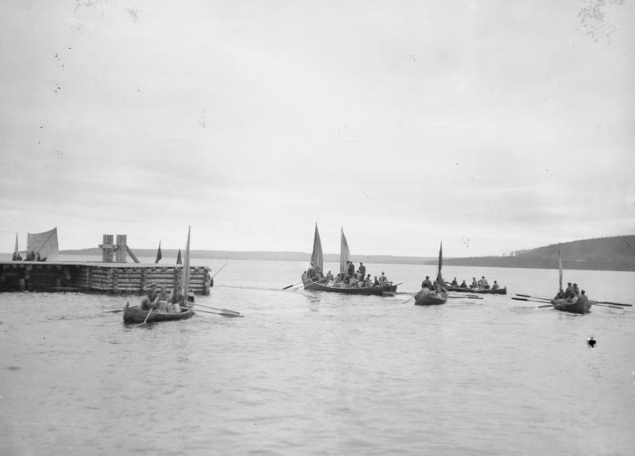 1919. Местные крестьяне на Онежском озере, Медвежья Гора