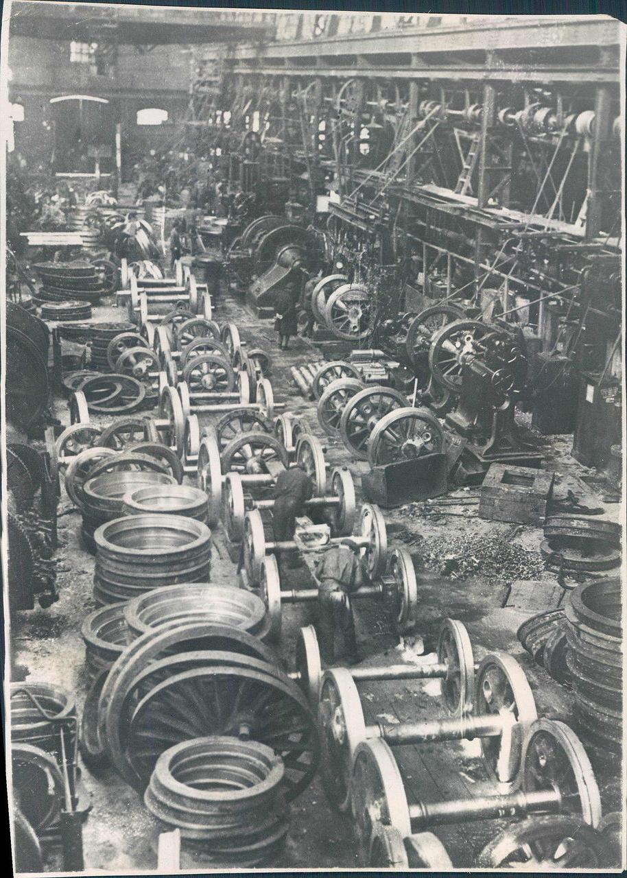 1930. Завод по производству железнодорожных поездов