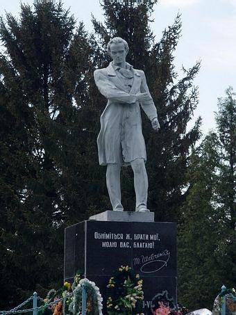 Памятник Т.Шевченко в Почаево