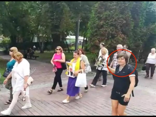 Организатор провокации с проплатной массовкой на Крестном ходе
