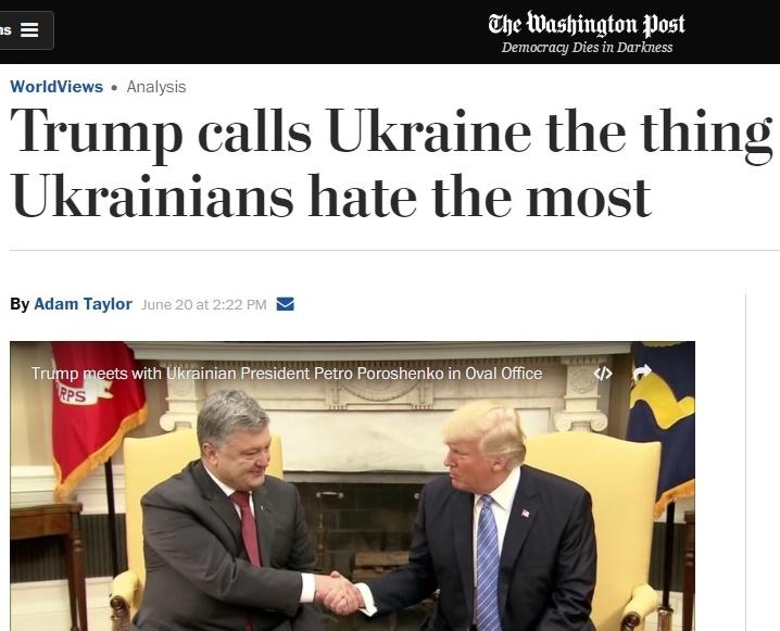 Лингвистическое унижение Порошенко в Вашингтоне