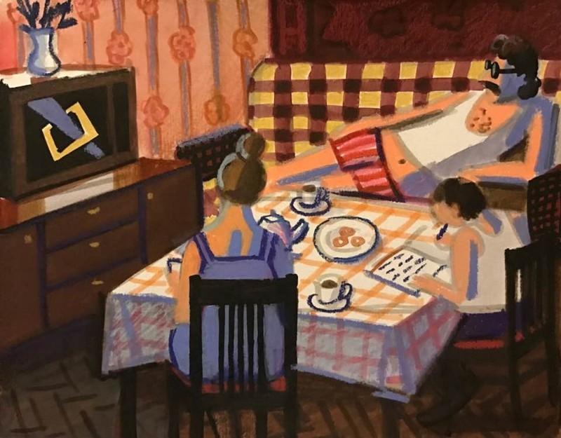 15-летняя советская девочка честно нарисовала, каким было ее детство в СССР