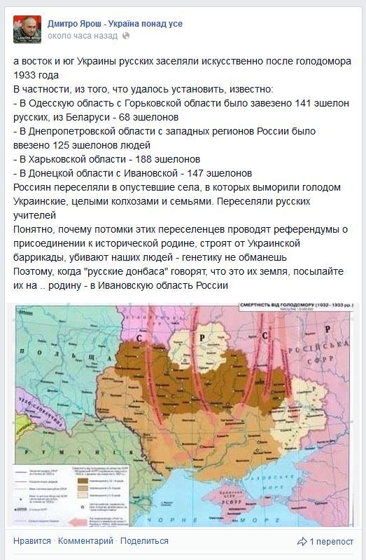 Обоснование геноцида русских от Яроша