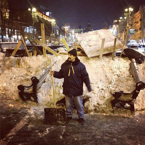 Баррикады на улицах Киева