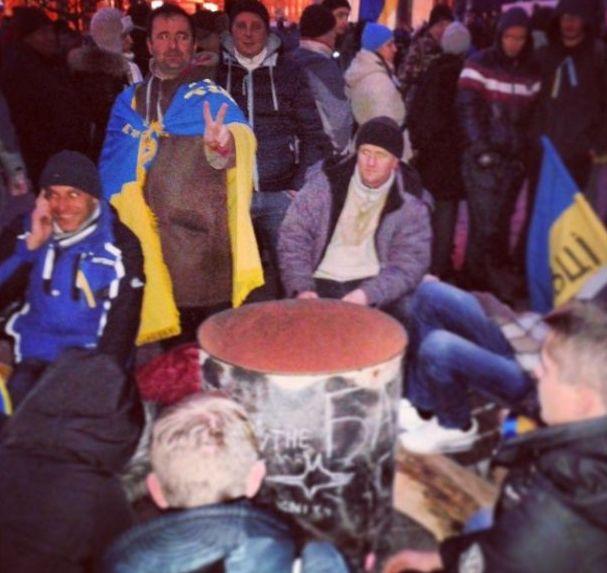 Баррикады на улицах Киева6