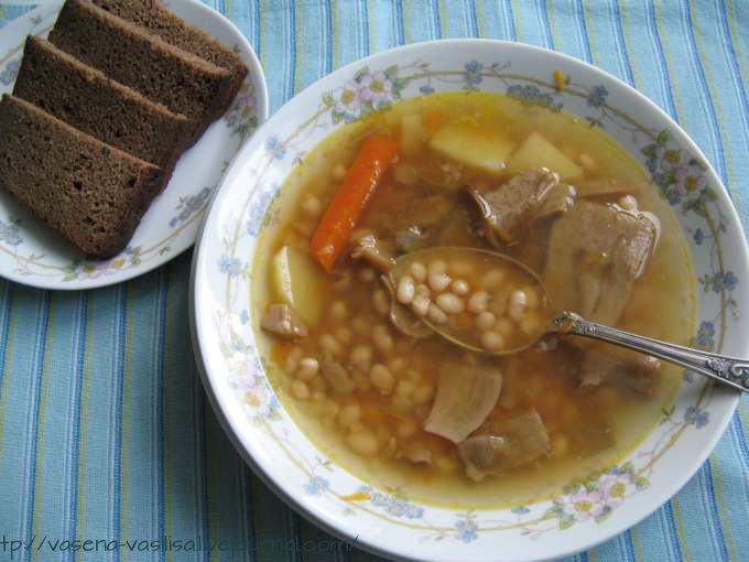 Суп грибн. с бел. фасолью