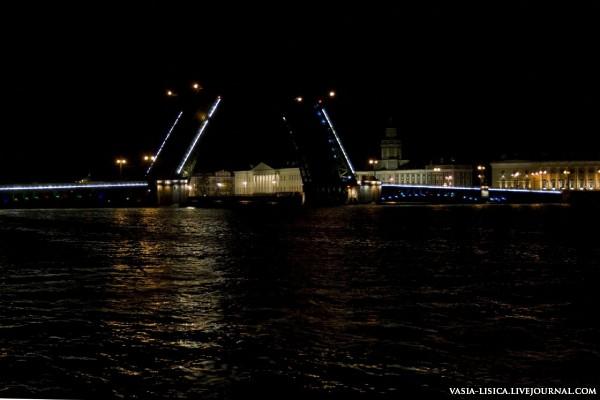Дворцовый мост развод Питер