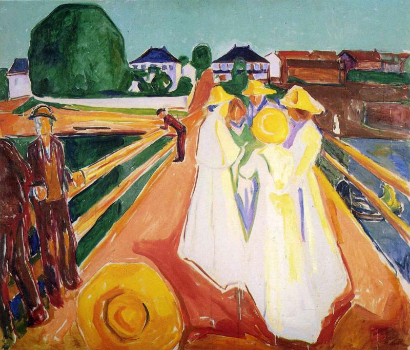 Дамы на мосту. Ок. 1935 года