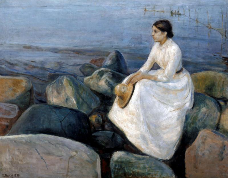 Ингер на берегу в летнюю ночь 1889 год