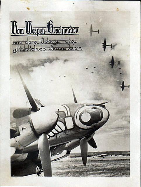 Luftwaffe Flugzeug Me 110 F ZG 1 Wespengeschwader 1942-43