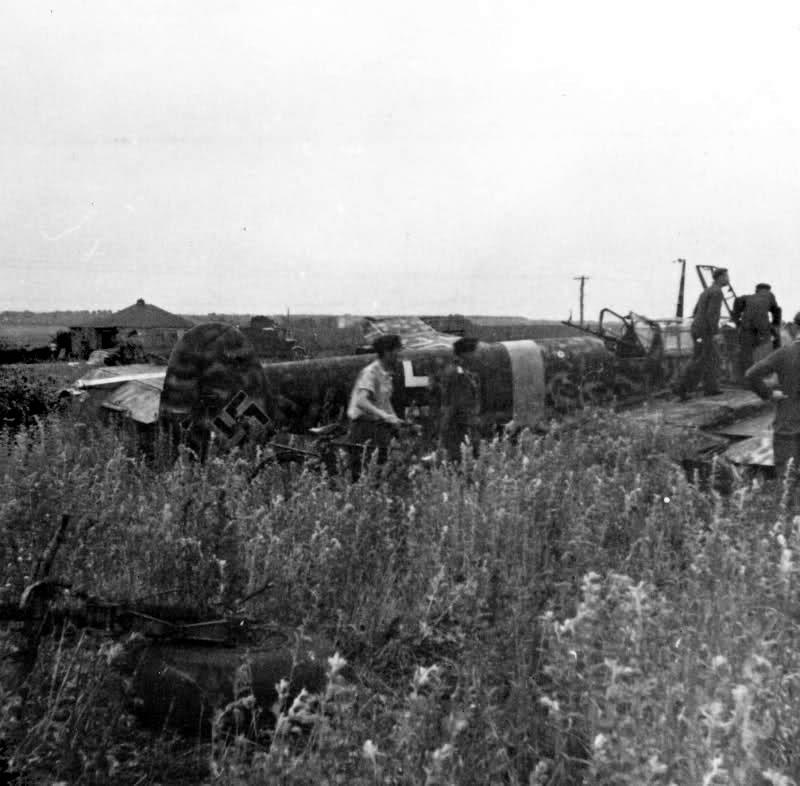 28th June 1942. Crashed on take-off at Belgorod. Pilot, Uffz. Wilhelm Togel. Bf 110 F-2 of 3.ZG 1. S9+RL