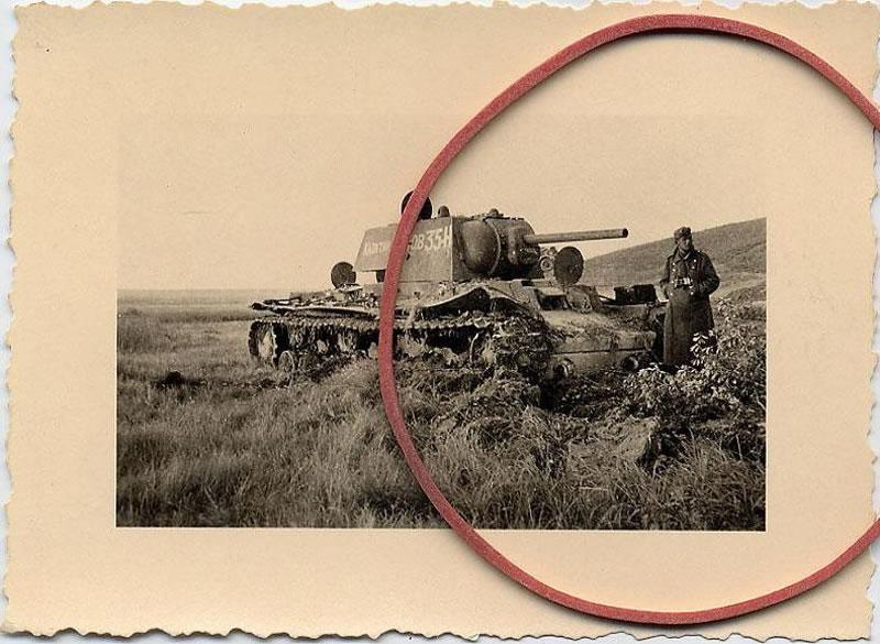 Танк КВ-1 35-Н 262-го танкового полка прорыва под Белгородом, июль1943