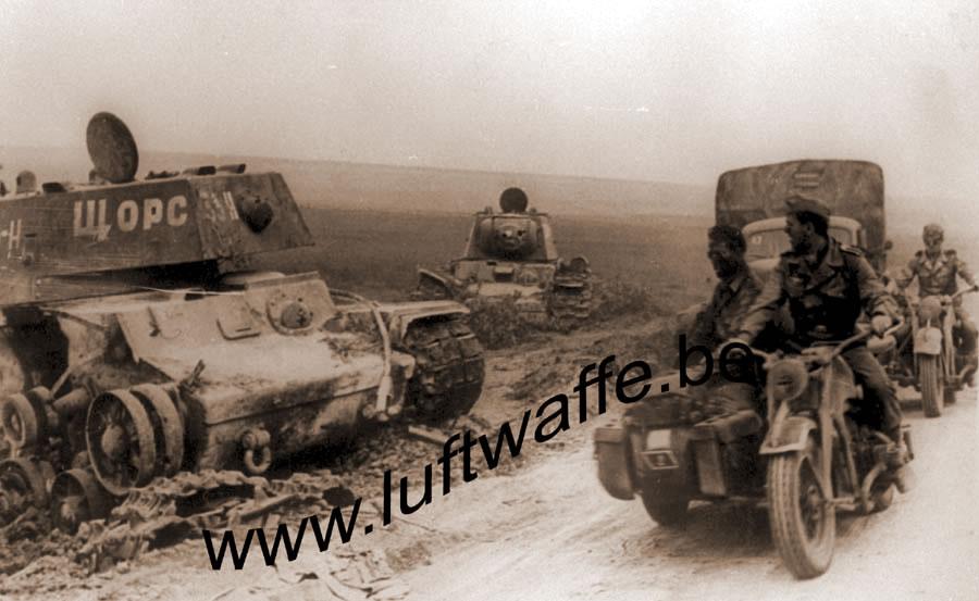 Танк КВ-1 33-Н 'Щорс' 262-го танкового полка прорыва под Белгородом, июль1943