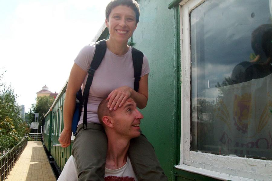 Нина Силина на Андрее Горине. Белгород 14.08.2012
