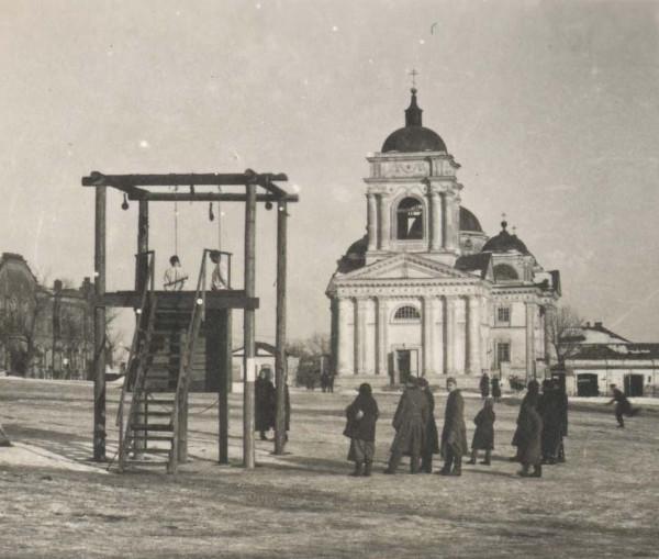 Казнь на Базарной площади Белгорода, 1942 год