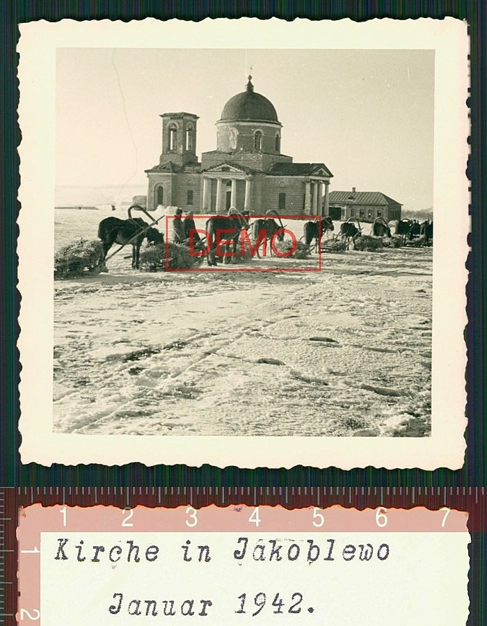 Kirche in Jakoblewo - Село Яковлево Белгородской области. Церковь Николая Чудотворца. Январь 1942
