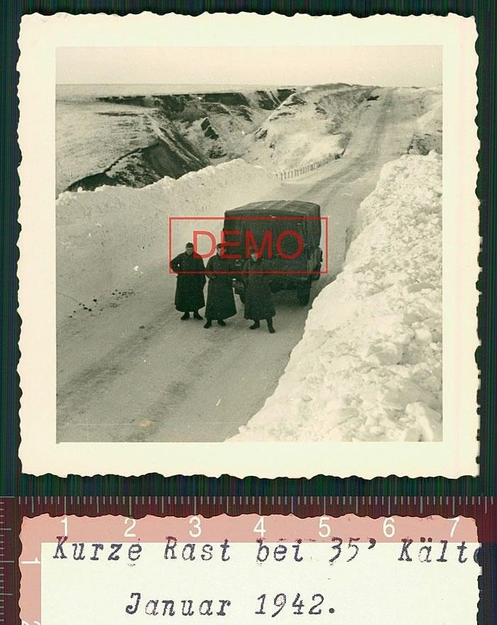 kurze rast bei 35 kalte. Januar 1942. Белгород-Обоянь