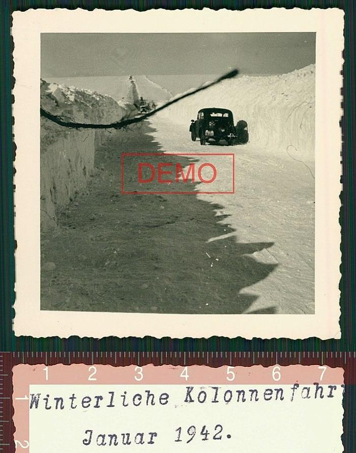 winterliche kolonnenfahrt. Januar 1942. Белгород-Обоянь