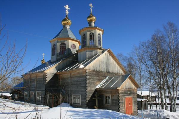 1956 - Церковь Спаса Преображения - Айкино - Усть-Вымский район - Республика Коми
