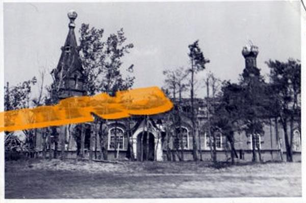 Михайловская церковь в Масловой Пристани, июнь 1942 -- Masslowa-Pristanj. Juni 1942 -- 79.Infanterie-Division (Wehrmacht), Bjelgorod