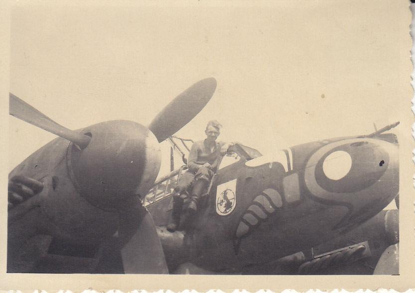 Luftwaffe Flugzeug Me 110 F-2 2 Wappen Wespe 1./ZG 1 Belgorod Sоmmer 1942