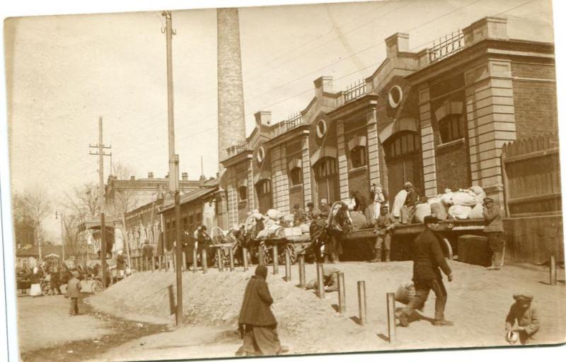 Bahnhof Bjelgorod - Привокзальная площадь Белгорода, Украинская держава Скоропадского, 1918