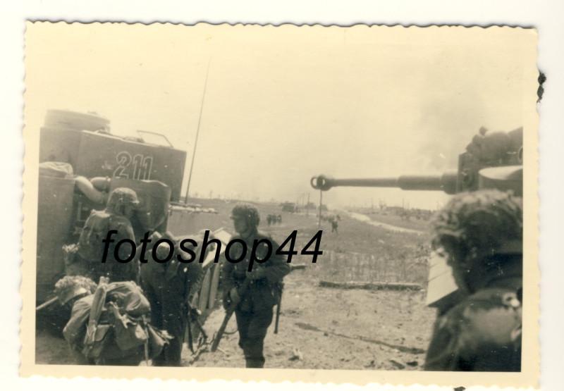 WH Panzer VI Tiger Belgorod Kursk Russland 1943 schwere Panzerabt. 503-2
