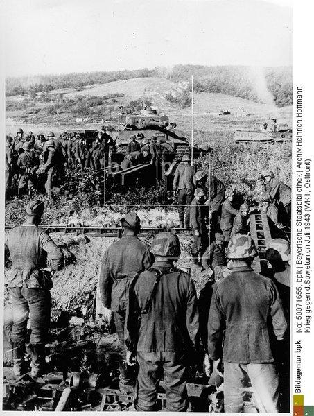 Переправа 7.Panzer-Division через Донец у Соломино под Белгородом 5 июля 1943: строительство моста для Тигров 3./sPzAbt.503
