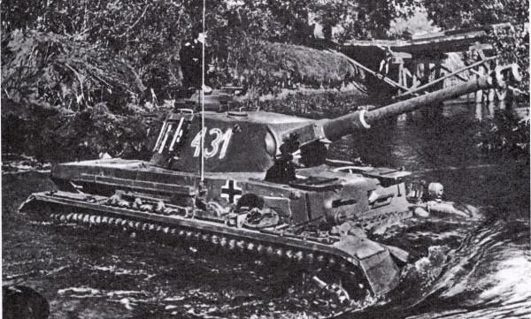 Танковый брод через Донец в Соломино 5 июля 1943, PzKpfw IV, Foto PK Kipper