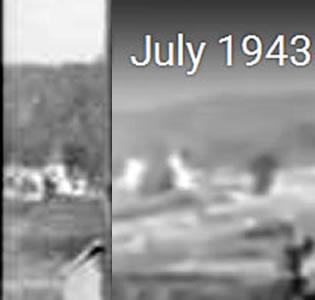 Усадьба из трёх построек  на склоне вблизи Соломино (в Колосова), 5 июля 1943 г