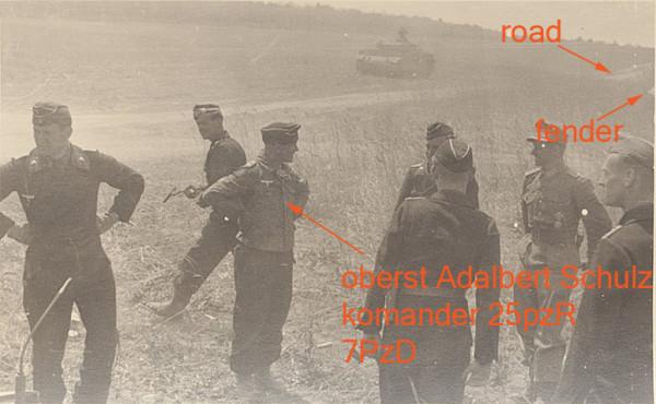 Oberstleutnant Adelbert Schulz, 25pzr 7pzd, juli 1943