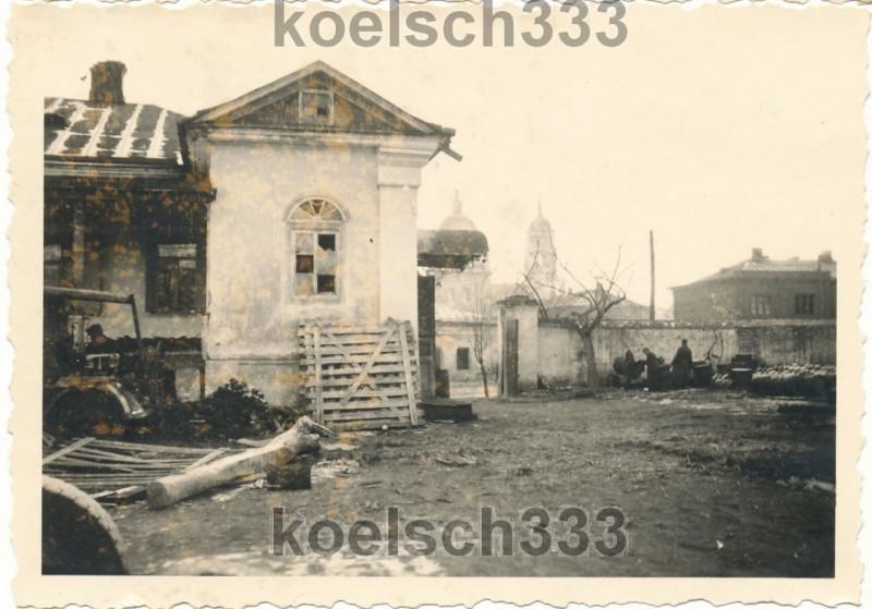 Топливный склад 168-й Пехотной дивизии вермахта в Белгороде, весна 1943
