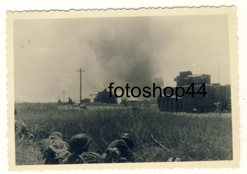 Тигры s.Pz.Abt.503 на Михайловском плацдарме 5 июля 1943 - ул.Волчанская в Белгороде