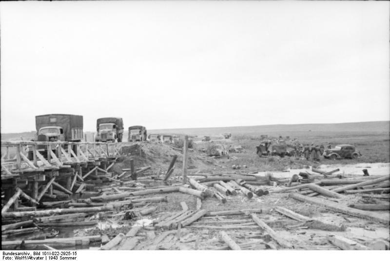Переправа в селе Ястребово под Белгородом, 8 июля 1943 г