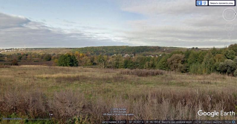 Вид на лес у Ястребово с восточного берега реки Разумной