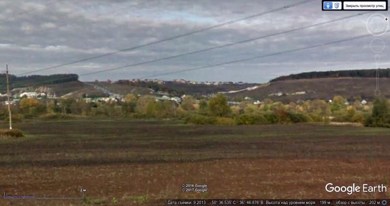 Вид на село Севрюково с восточного берега реки Разумной, сентябрь 2013