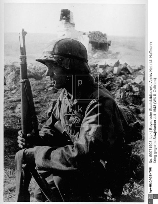 Bayerische Staatsbibliothek, Archiv Heinrich Hoffmann - Krieg gegen d.Sowjetunion Juli 1943 (WK II; Ostfront); Kampf im Donez-Gebiet = Donets