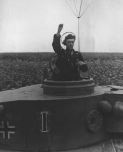 Clemens-Heinrich Graf von Kageneck, Kommander of s.Pz.Abt. 503 in his command Tiger I. -Bjelgorod, juli 1943