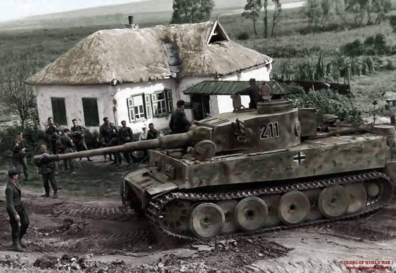 История одной фотографии: Тигры 2./s.Pz.Abt. 503 в с.Беломестном и на трассе M2 в середине июля 1943
