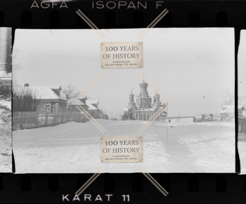 Село Дарна Истринского р-на Московской обл. Крестовоздвиженская церковь, ноябрь-декабрь 1941