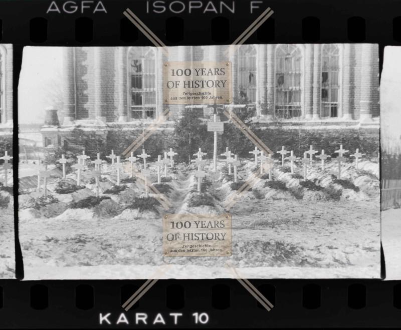 Немецкое кладбище. Село Дарна Истринского р-на Московской обл. Крестовоздвиженская церковь, ноябрь-декабрь 1941