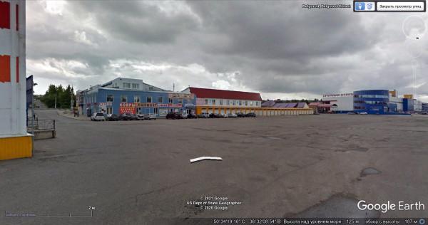 Рынок Спутник на google-maps