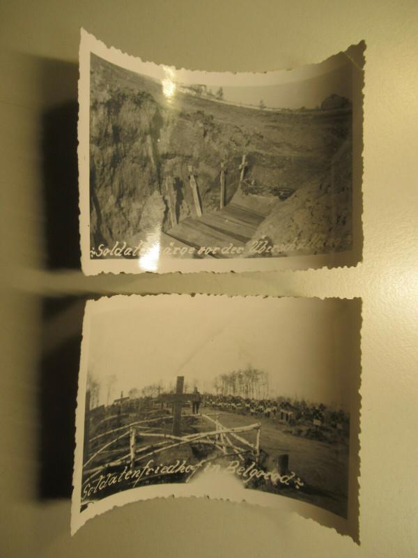 1941 2x altes Foto Soldatenfriedhof Belgorod Бе́лгород Rußland