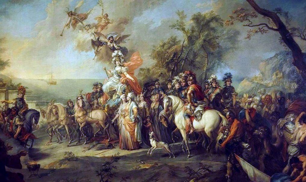 Стефано Торелли, 1772, «Аллегория победы Екатерины II над турками».
