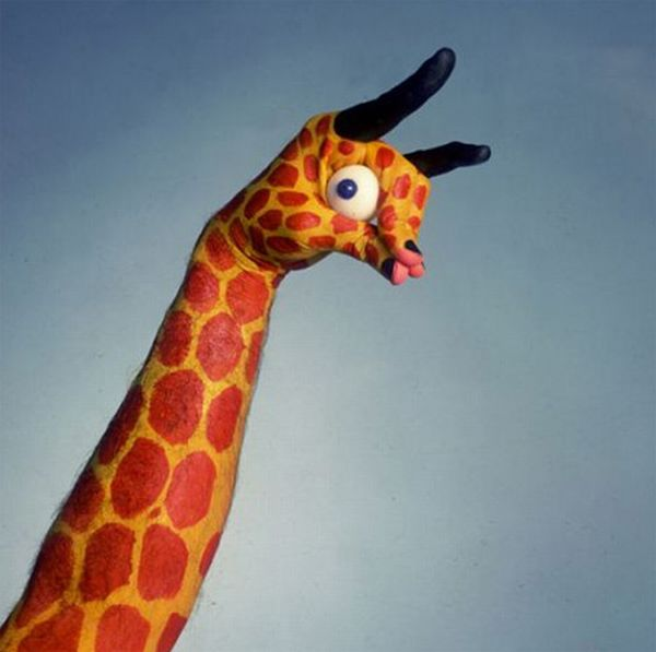 руки жираф